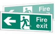 W430DST - DOUBLE-SIDED FIRE EXIT SIGN TO THE RIGHT OR LEFT.